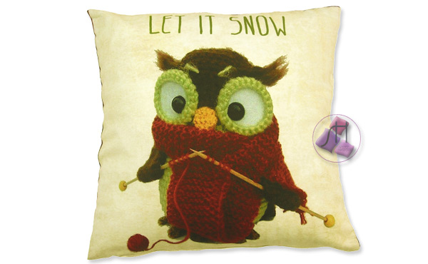 Funda de coixí 45x45cm LET IT SNOW 1769