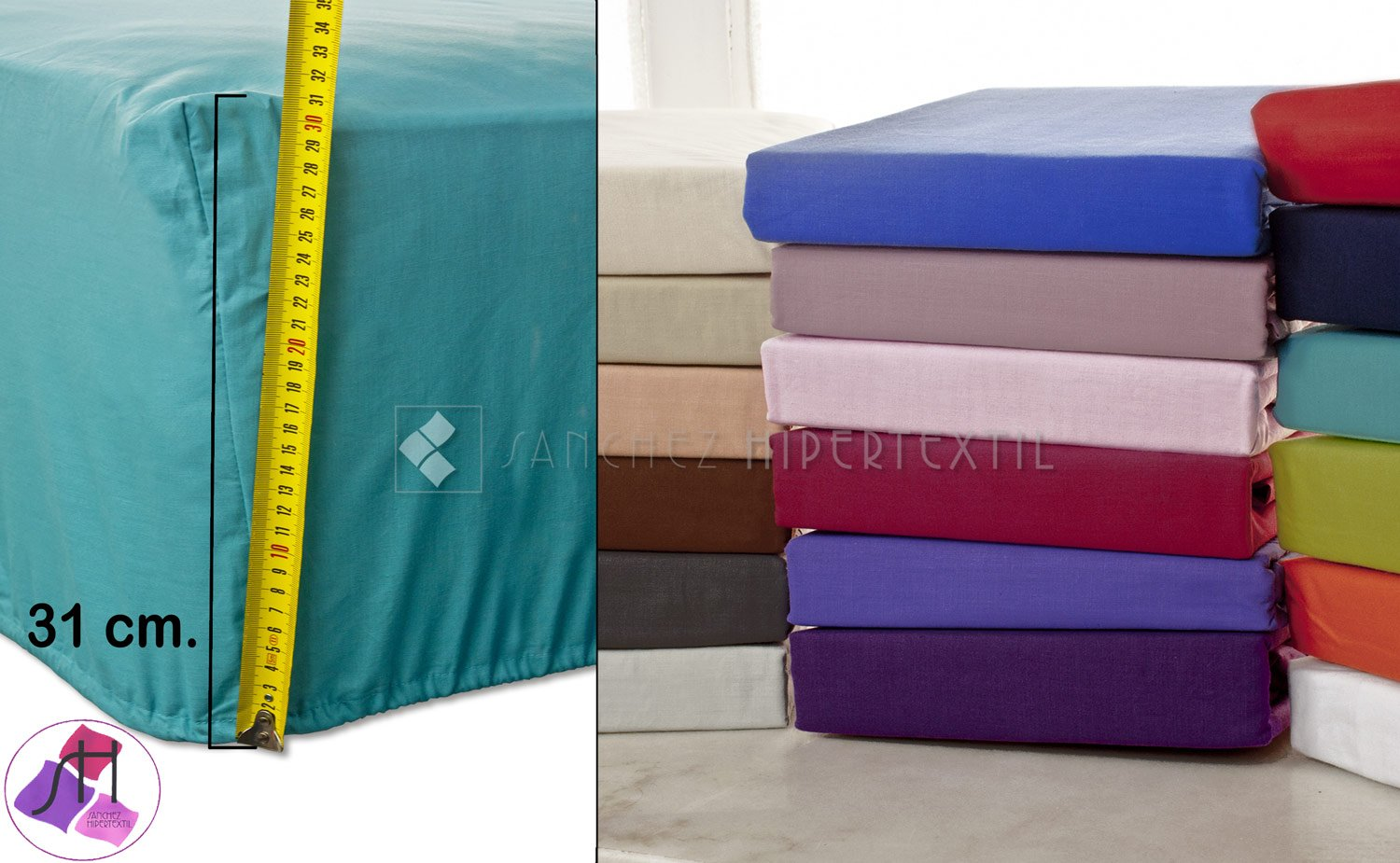 Adjustable bed sheets SH PREMIUM polyester/cotton