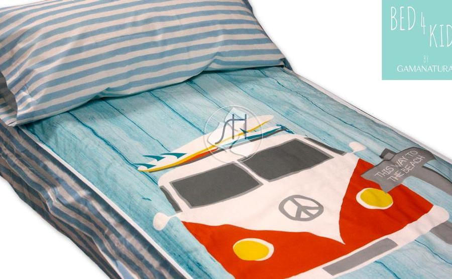 'Retro Surf - Bed 4 kids by Gamanatura' | Hipertextil