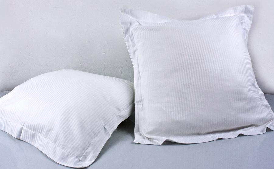 MIMOSA cushion 65 x 65 cm - cover - white ticking - cotton 100%