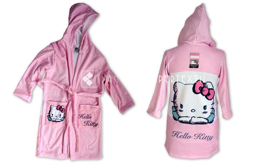 df903fca2 Bathrobe velour - child - Hello Kitty Angels :: Bed linen from 1,00€ :: ::  Sanchez Hipertextil
