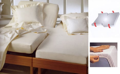 Fitted sheet twin mattresses for adjustable beds