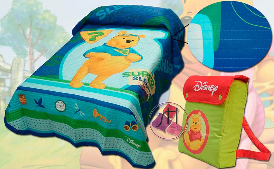 Bouti bedspreads-quilt WINNIE THE POOH Backpack by Manterol